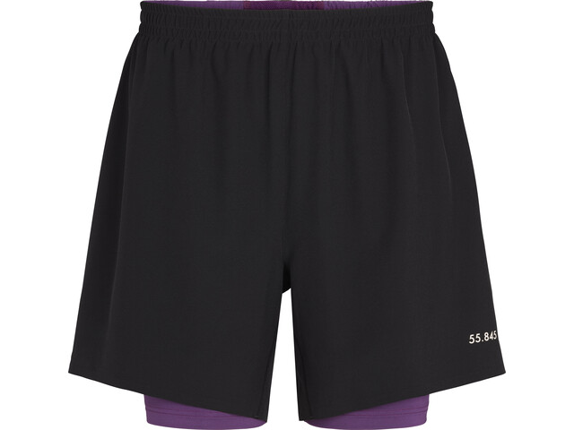 Fe226 LightRun 2-in-1 Shorts, zwart